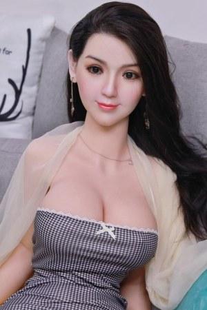 161cm Smile Silicone Head Sex Doll - Nana