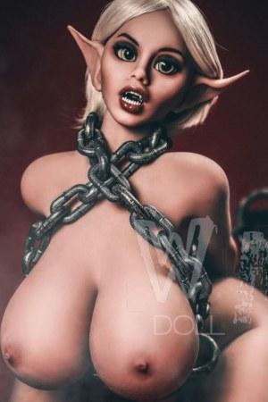 150cm Elf Sex Doll Busty Body Fat Ass Vampire Real Doll - Gwendolyn